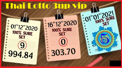 Thai Lotto 3up vip pair set 30-12-2020