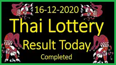 Thailand lottery result today completed 16/12/2020
