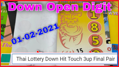 Thai Lottery Down Hit Touch 3up Final Pair