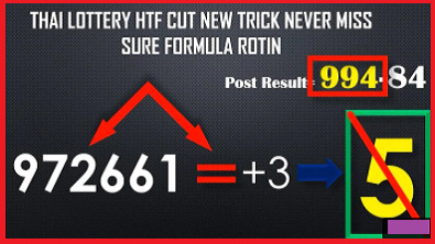 Thai Lottery HTF Cut New Trick Never Miss Sure Formula 17-01-2021
