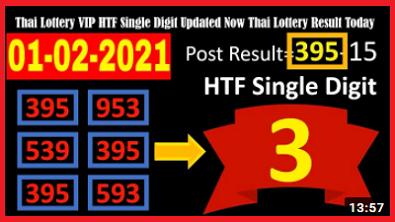 Thai Lottery VIP HTF Single Digit Updated 1-02-2021