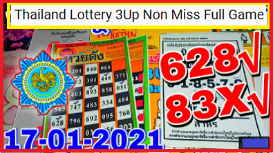 Thailand Lottery 3Up Non Miss Full Game Open
