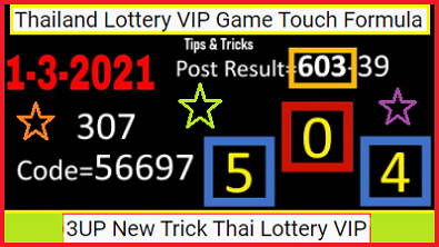 1-3-2021 Thai Lottery 3UP Full And Final Game Series