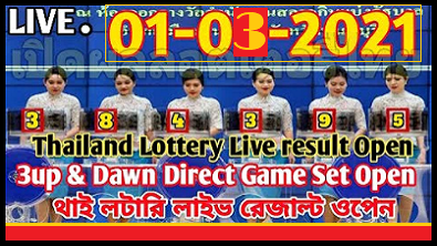 Thailand lottery result today 1st March 2021