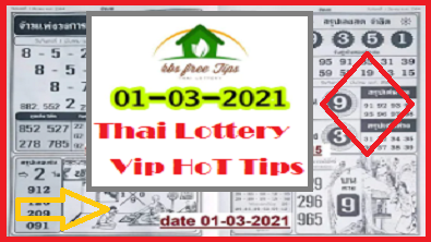 Thailand lottery vip paper Secrect tips 1-3-2021