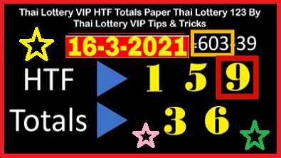 Thai Lottery Win TF Totals Sure Paper 16 March 2021