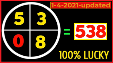 Thai Lotto 2Down Vip Tass and Pair Game 1-4-2021