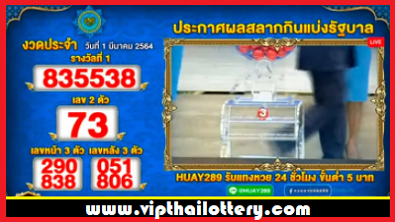 Thailand Lottery Result Today Live 16-03-2021