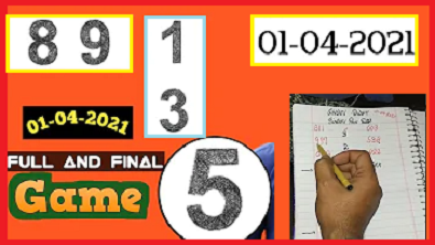 Thailand lottery 3up final game 01-04-2021
