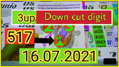 Thailand Lottery Sure Tips 16-07-2021 Down Cut Total Digit Non Miss