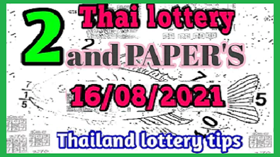 Thai lottery 2nd paper 3up win tips 16 August 2564