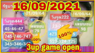 Thailand lottery down game open single digit directly set win 16/9/2021